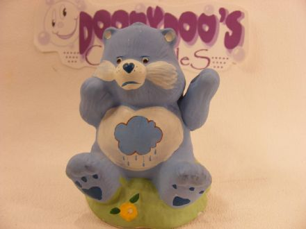 "VINTAGE 4"" CERAMIC GRUMPY CAREBEAR 80S CARE BEARS"